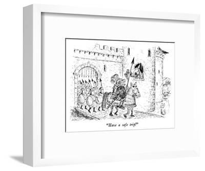 """Have a safe trip!"" - New Yorker Cartoon-Edward Koren-Framed Premium Giclee Print"
