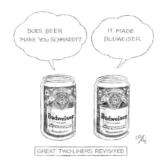 Great Two-Liners Revisited: Title. - New Yorker Cartoon-Everett Opie-Premium Giclee Print