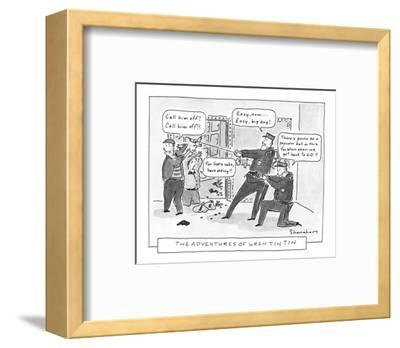 The Adventures Of Wren Tin Tin - New Yorker Cartoon-Danny Shanahan-Framed Premium Giclee Print