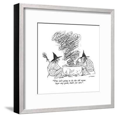 """""""This isn't going to do the old ozone layer any good, that's for sure."""" - New Yorker Cartoon-Al Ross-Framed Premium Giclee Print"""