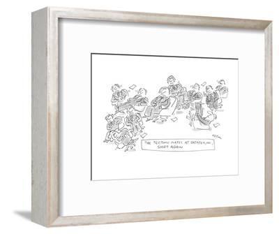 The Textonic Plates At Datatex, INC. Shift Again - New Yorker Cartoon-Dean Vietor-Framed Premium Giclee Print