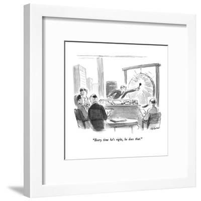 """""""Every time he's right, he does that."""" - New Yorker Cartoon-James Stevenson-Framed Premium Giclee Print"""