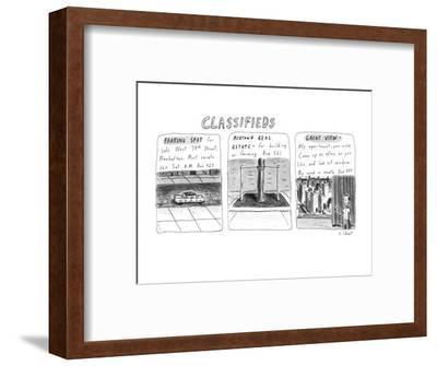 Classifieds - New Yorker Cartoon-Roz Chast-Framed Premium Giclee Print