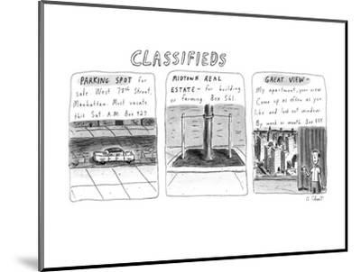 Classifieds - New Yorker Cartoon-Roz Chast-Mounted Premium Giclee Print