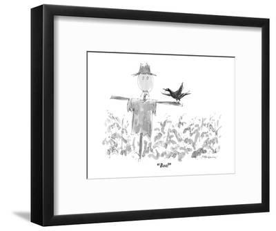 """""""Boo!"""" - New Yorker Cartoon-James Stevenson-Framed Premium Giclee Print"""