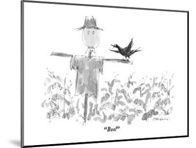 """Boo!"" - New Yorker Cartoon-James Stevenson-Mounted Premium Giclee Print"