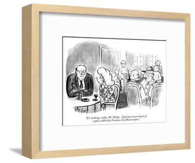 """""""It's nothing, really, Mr. Phelps.  I had just never heard of a place call…"""" - New Yorker Cartoon-Warren Miller-Framed Premium Giclee Print"""