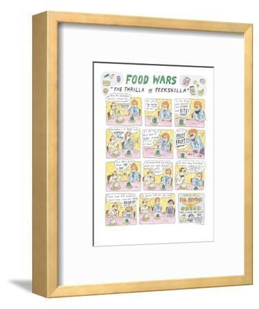 "Food Wars: ""Thrilla in Peekskilla"" - New Yorker Cartoon-Roz Chast-Framed Premium Giclee Print"