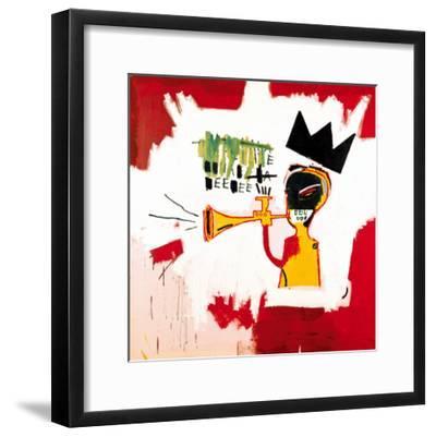 Trumpet, 1984-Jean-Michel Basquiat-Framed Giclee Print