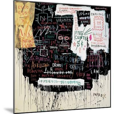 Museum Security (Broadway Meltdown), 1983-Jean-Michel Basquiat-Mounted Giclee Print