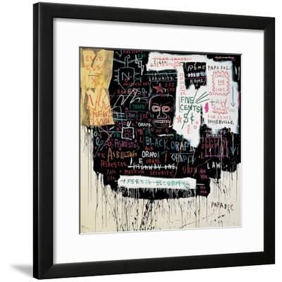 Museum Security (Broadway Meltdown), 1983-Jean-Michel Basquiat-Framed Giclee Print
