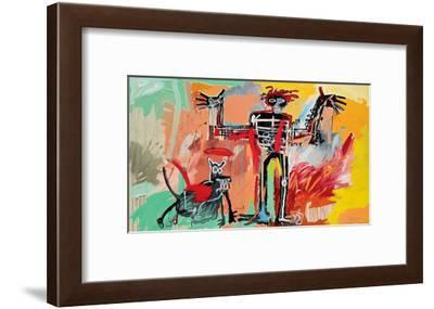 Boy and Dog in a Johnnypump, 1982-Jean-Michel Basquiat-Framed Giclee Print