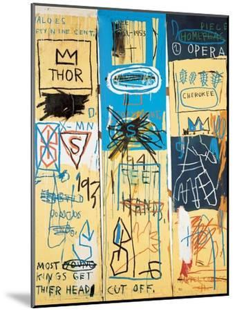 Charles The First 1982 Jean Michel Basquiat Mounted Giclee Print