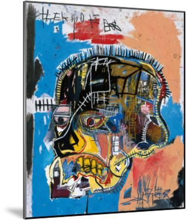 Untitled, 1981 (Basquiat Skull)-Jean-Michel Basquiat-Mounted Giclee Print
