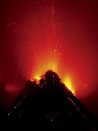 Volcano Erupting, Hawaii Volcanoes National Park, Hawaii-Frans Lanting-Framed Photographic Print