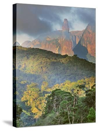 Rainforest and Granite Mountains, Serra Dos Orgaos National Park, Brazil-Frans Lanting-Stretched Canvas Print