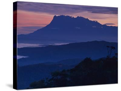 Mount Kinabalu at Dawn, Sabah, Borneo-Frans Lanting-Stretched Canvas Print