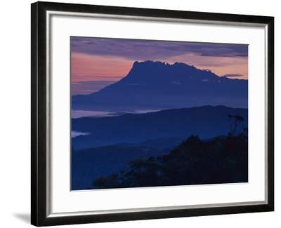 Mount Kinabalu at Dawn, Sabah, Borneo-Frans Lanting-Framed Photographic Print
