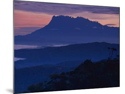 Mount Kinabalu at Dawn, Sabah, Borneo-Frans Lanting-Mounted Photographic Print