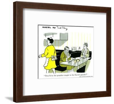 Hazel Cartoon-Ted Key-Framed Art Print