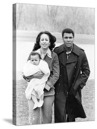 Muhammad Ali and Family - 1977-Ozier Muhammad-Stretched Canvas Print