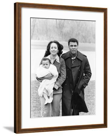 Muhammad Ali and Family - 1977-Ozier Muhammad-Framed Photographic Print