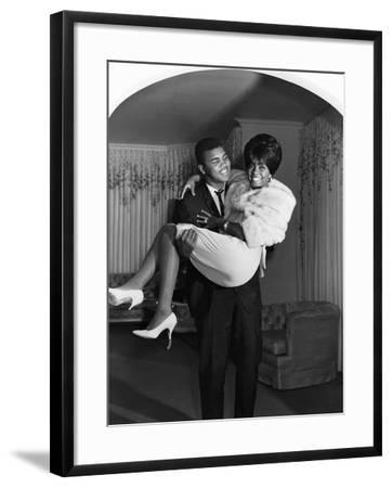 Muhammad Ali and Sonji Clay - 1967-Isaac Sutton-Framed Photographic Print