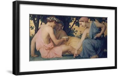 Spring, 1858-William Adolphe Bouguereau-Framed Giclee Print