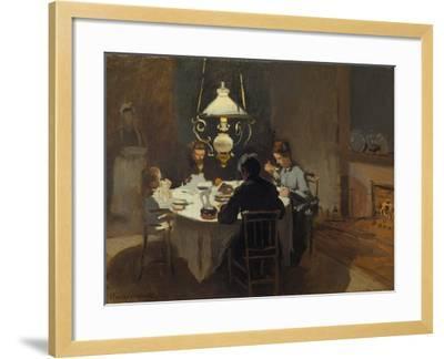 Dinner-Time at the Sisley's, ca. 1868/69-Claude Monet-Framed Giclee Print