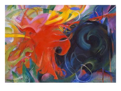 Fighting Shapes, 1914-Franz Marc-Giclee Print
