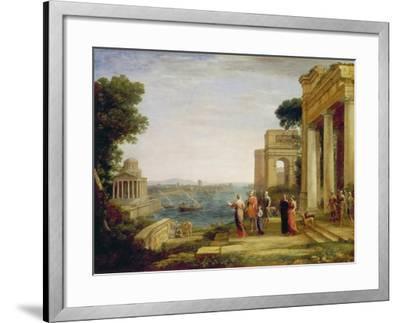 Dido and Aeneas, 1675/1676-Claude Lorraine-Framed Giclee Print