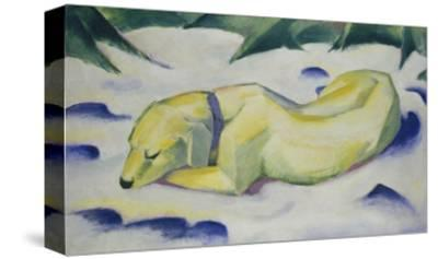 Dog Lying in the Snow, 1910/1911-Franz Marc-Stretched Canvas Print