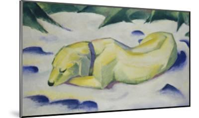 Dog Lying in the Snow, 1910/1911-Franz Marc-Mounted Giclee Print