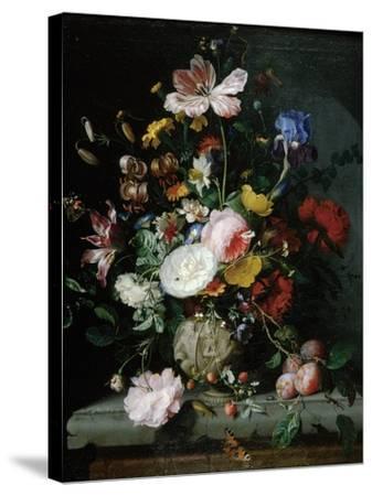 Stilleben Mit Blumenstrauss in Einer Terrakottavase, 1677-Jacob Van Walscapelle-Stretched Canvas Print