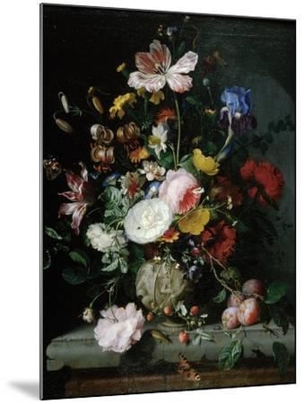 Stilleben Mit Blumenstrauss in Einer Terrakottavase, 1677-Jacob Van Walscapelle-Mounted Giclee Print