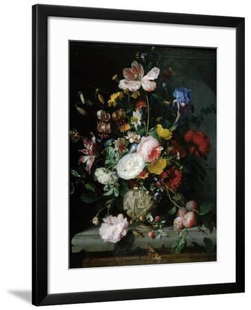 Stilleben Mit Blumenstrauss in Einer Terrakottavase, 1677-Jacob Van Walscapelle-Framed Giclee Print