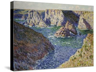 The Rocks of Belle Ile, 1886-Claude Monet-Stretched Canvas Print