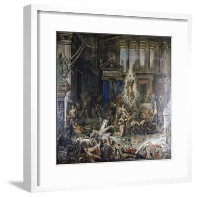 Les Pretendants. Started in 1852-Gustave Moreau-Framed Giclee Print