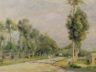 Rural Road Near Louvecienne, 1895-Pierre-Auguste Renoir-Framed Giclee Print