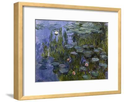 Water Lilies (Nympheas), 1918/1921-Claude Monet-Framed Giclee Print