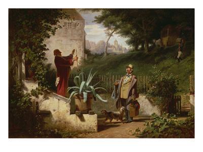 School Day Friends, about 1855-Carl Spitzweg-Framed Giclee Print