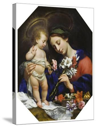 Virgin Mary with the Infant Christ, 1649-Carlo Dolci-Stretched Canvas Print