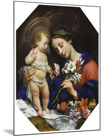 Virgin Mary with the Infant Christ, 1649-Carlo Dolci-Mounted Giclee Print