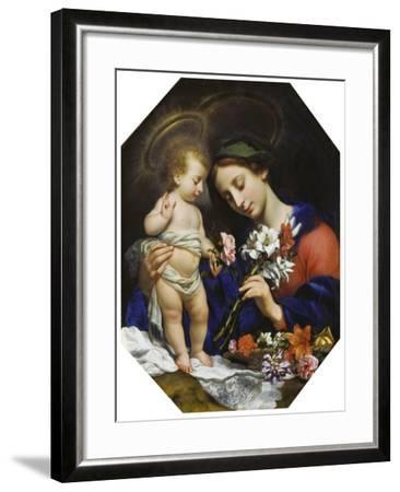 Virgin Mary with the Infant Christ, 1649-Carlo Dolci-Framed Giclee Print