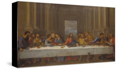 The Last Supper. (Copy after Leonardo Da Vinci)-Nicolas Poussin-Stretched Canvas Print