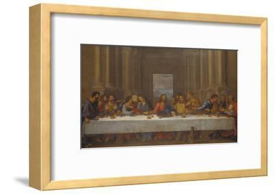 The Last Supper. (Copy after Leonardo Da Vinci)-Nicolas Poussin-Framed Giclee Print