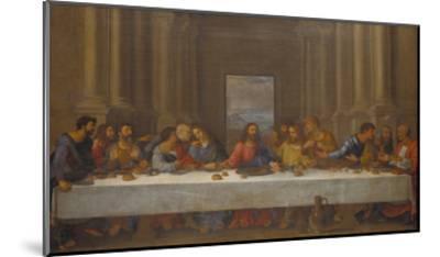 The Last Supper. (Copy after Leonardo Da Vinci)-Nicolas Poussin-Mounted Giclee Print