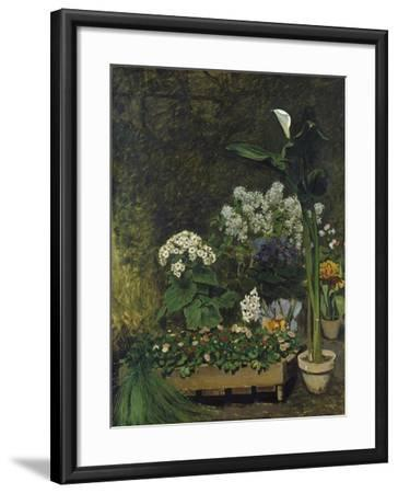 Still-Life with Flowers (Arum and Green House Plants), 1864-Pierre-Auguste Renoir-Framed Giclee Print