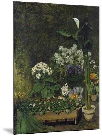 Still-Life with Flowers (Arum and Green House Plants), 1864-Pierre-Auguste Renoir-Mounted Giclee Print