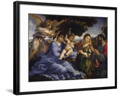 Maria Mit dem Kind Und Den Hll.Katharina Und James the Greater, um 1533-Lorenzo Lotto-Framed Giclee Print